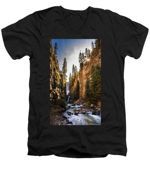 Magnificent  Mystic Falls  Men's V-Neck T-Shirt by Steven Reed