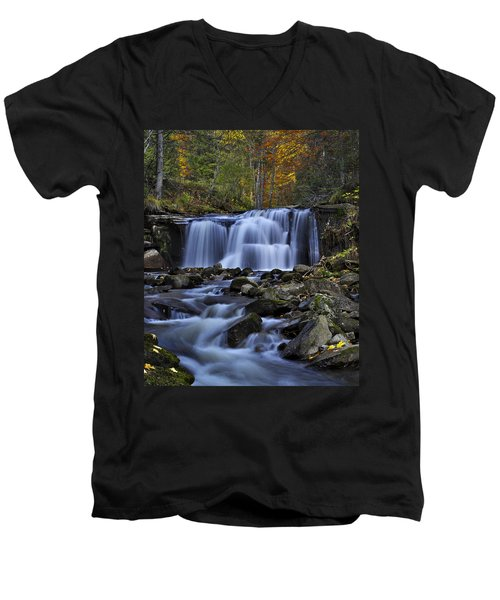Magnificent Waterfall Men's V-Neck T-Shirt