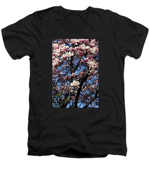 Magnolias Men's V-Neck T-Shirt