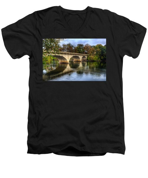 Main St Bridge Men's V-Neck T-Shirt