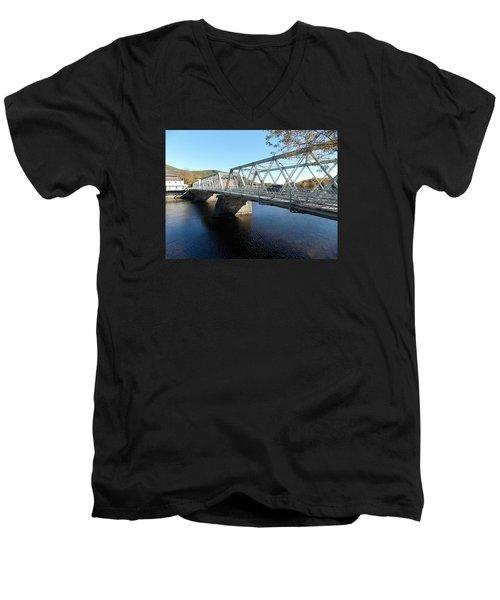 Main Street Bridge Shelbourne Falls  Men's V-Neck T-Shirt