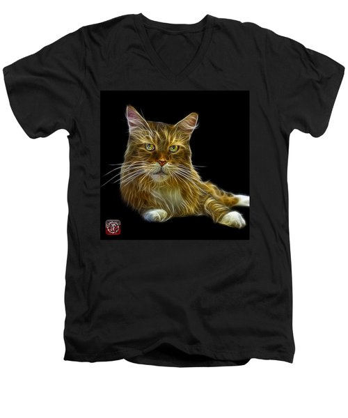 Maine Coon Cat - 3926 - Bb Men's V-Neck T-Shirt