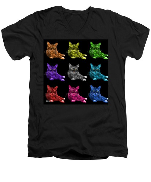 Maine Coon Cat - 3926 - Bb - M Men's V-Neck T-Shirt