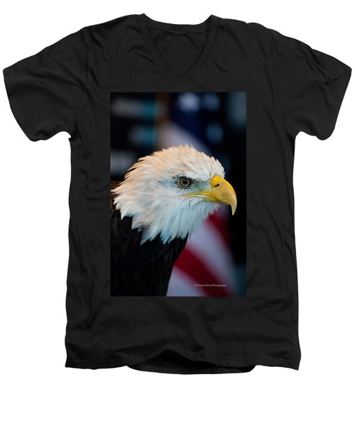 Majestic Bald Eagle Men's V-Neck T-Shirt