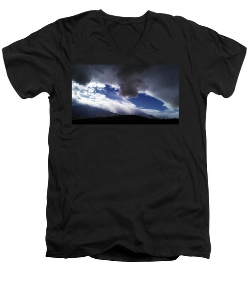 Men's V-Neck T-Shirt featuring the photograph Majestic by Chris Tarpening