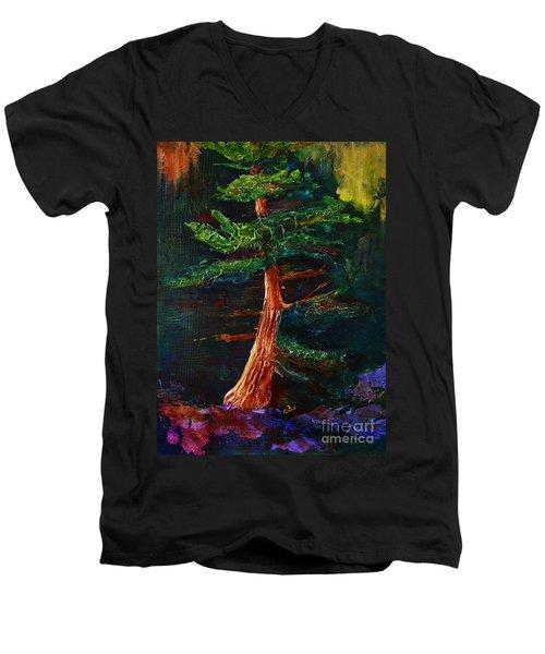Majestic Pine Men's V-Neck T-Shirt