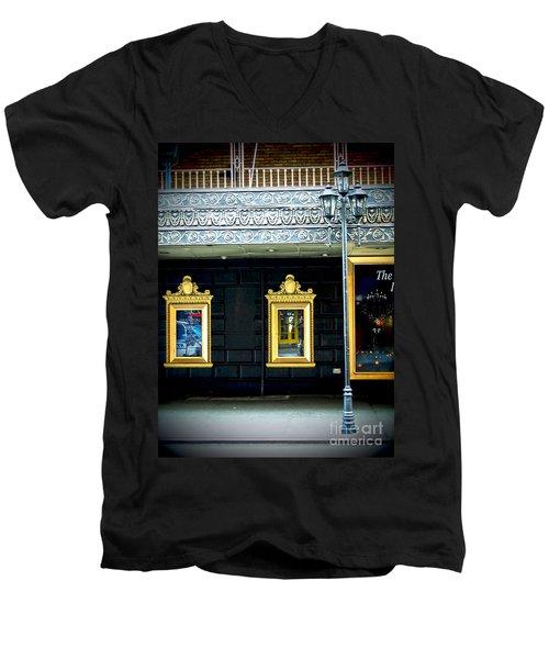 Majestic Theatre Lightpost Men's V-Neck T-Shirt