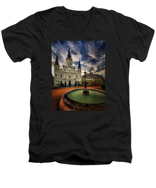 Men's V-Neck T-Shirt featuring the photograph Make A Wish by Robert McCubbin