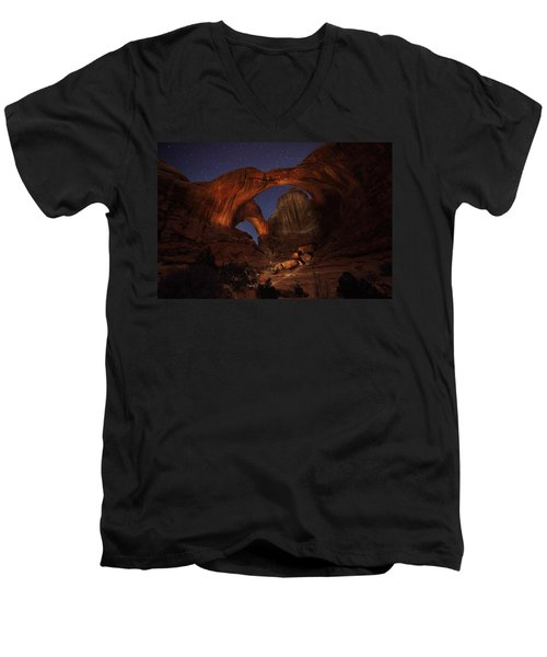 Men's V-Neck T-Shirt featuring the photograph Make It A Double by David Andersen