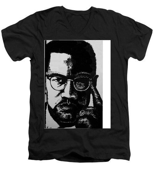 Malcom X Men's V-Neck T-Shirt