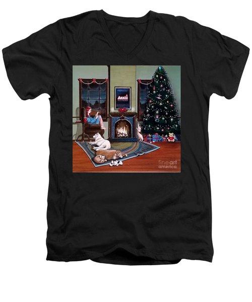 Mallory Christmas Men's V-Neck T-Shirt