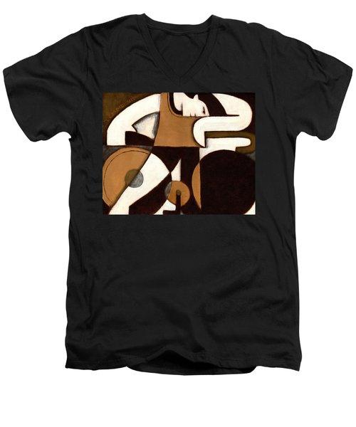 Tommervik Art Deco Man And Bike Cycling Art Print Men's V-Neck T-Shirt