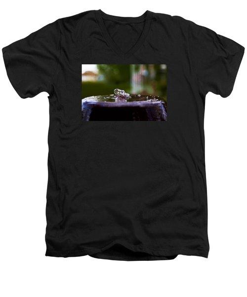 Man On The Surface Men's V-Neck T-Shirt by Mez