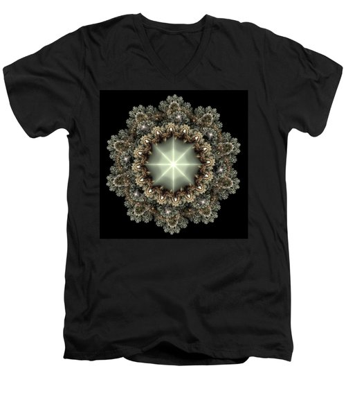 Mandala Men's V-Neck T-Shirt by Svetlana Nikolova