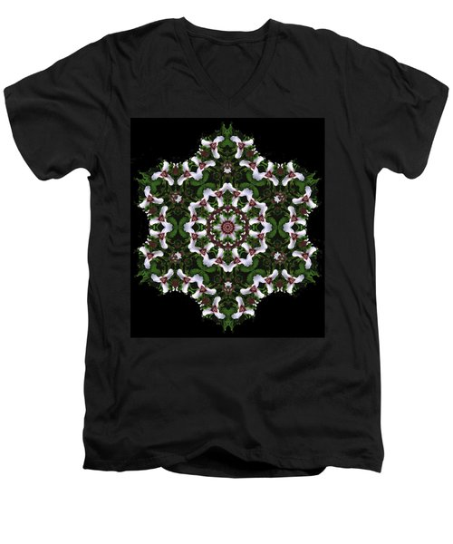 Mandala Trillium Holiday Men's V-Neck T-Shirt
