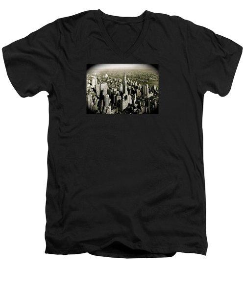 Manhattan And Chrysler Building II Men's V-Neck T-Shirt