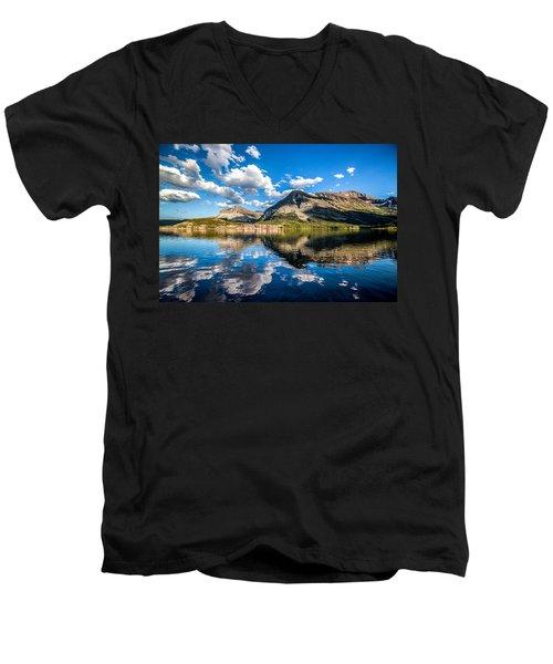 Many Glacier Hotel Men's V-Neck T-Shirt