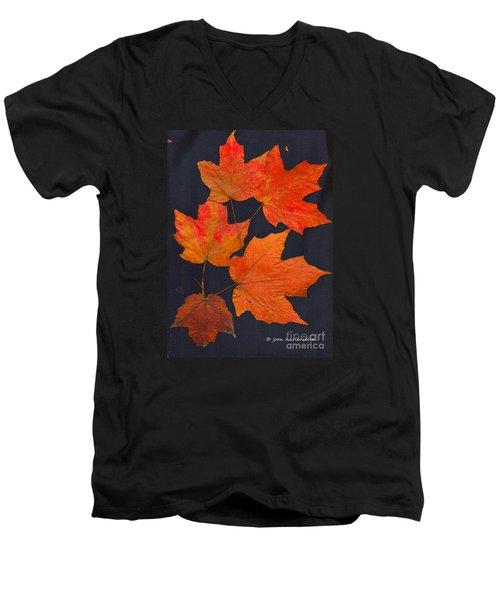 Maple Leaf Tag II Men's V-Neck T-Shirt