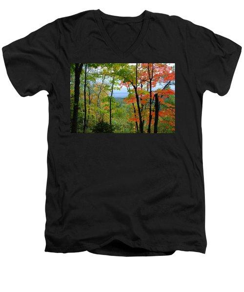 Maples Against Lake Superior - Tettegouche State Park Men's V-Neck T-Shirt