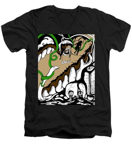 March On Men's V-Neck T-Shirt