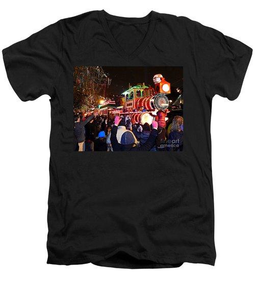 New Orleans Mardi Gras 2014 Orpheus Super Float Smokey Mary Men's V-Neck T-Shirt