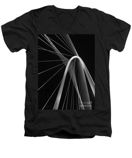 Margaret Hunt Hill Bridge Dallas Texas Men's V-Neck T-Shirt