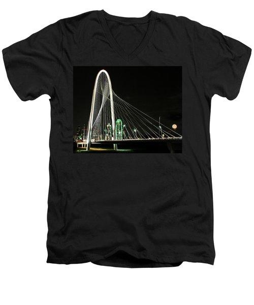 Margaret Hunt Hill Bridge Men's V-Neck T-Shirt