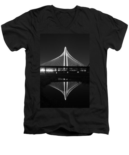 Margaret Hunt Hill Bridge Reflection Men's V-Neck T-Shirt by Jonathan Davison