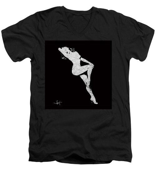Marilyn Monroe The Lightning Men's V-Neck T-Shirt