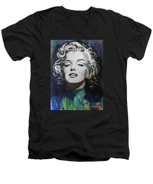 Marilyn Monroe..2 Men's V-Neck T-Shirt by Chrisann Ellis