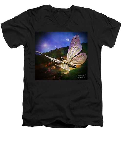 Mariposa Galactica Men's V-Neck T-Shirt