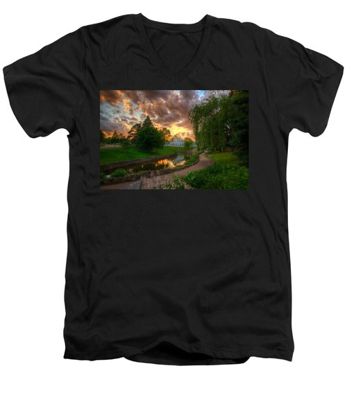 Marjorie Mcneely Conservatory Reflections Men's V-Neck T-Shirt