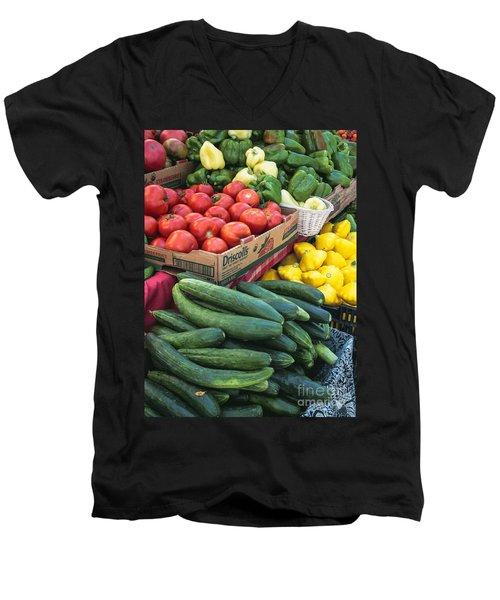 Market Freshness Men's V-Neck T-Shirt