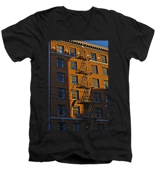 Market Street Area Building 4 Men's V-Neck T-Shirt