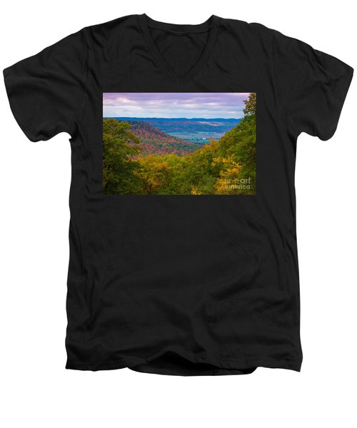 Martin Hill Foliage Men's V-Neck T-Shirt