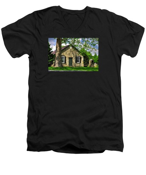 Maryland Country Churches - Fairview Chapel-1a Spring - Established 1847 Near New Market Maryland Men's V-Neck T-Shirt
