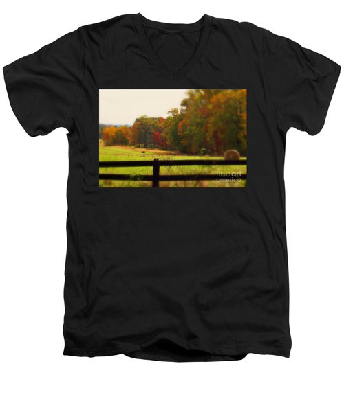 Maryland Countryside Men's V-Neck T-Shirt by Patti Whitten