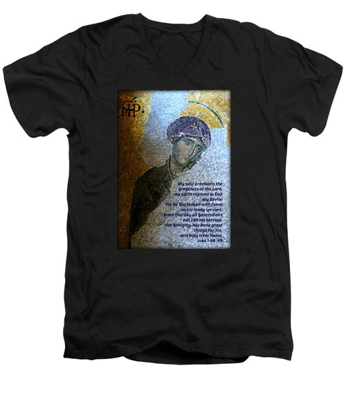 Mary's Magnificat Men's V-Neck T-Shirt