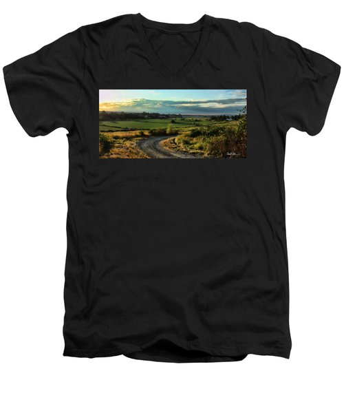 Marysville Valley Men's V-Neck T-Shirt by Charlie Duncan
