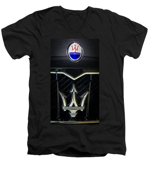Maserati Badge Men's V-Neck T-Shirt