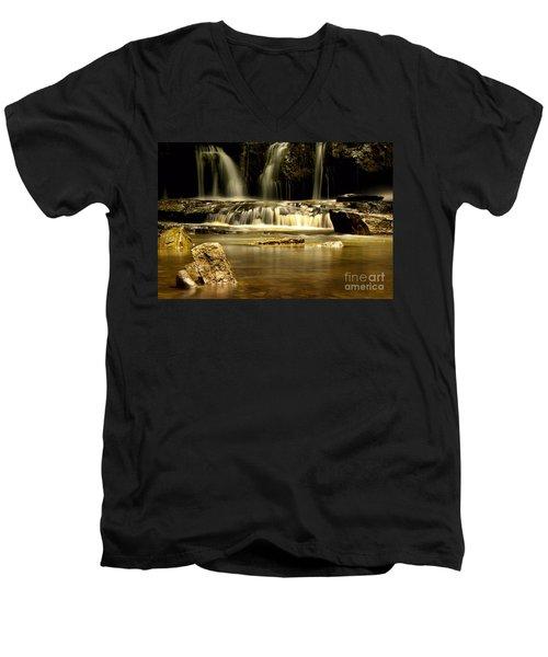 Mash Fork Falls Men's V-Neck T-Shirt