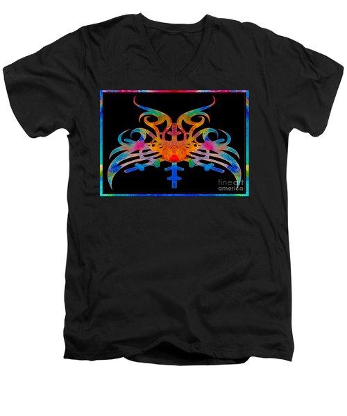 Masking Reality Abstract Shapes Artwork Men's V-Neck T-Shirt