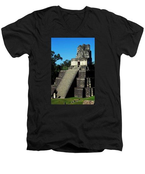 Mayan Ruins - Tikal Guatemala Men's V-Neck T-Shirt by Juergen Weiss