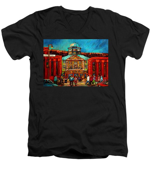 Mcgill Gates Montreal Men's V-Neck T-Shirt