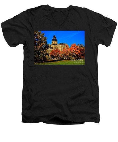 Mcgraw Hall Cornell University Men's V-Neck T-Shirt