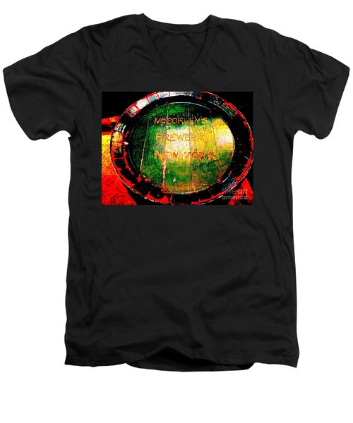 Mcsorleys Brewery Men's V-Neck T-Shirt by Ed Weidman