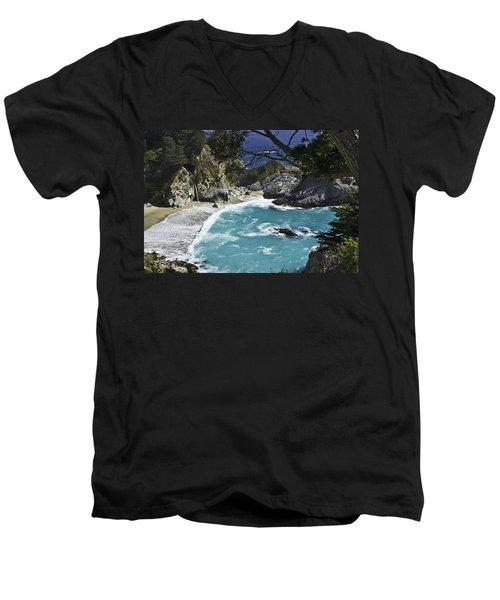 Mcway Falls - Big Sur Men's V-Neck T-Shirt