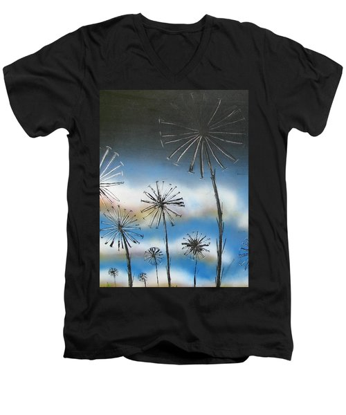 Meadow At Dawn Men's V-Neck T-Shirt