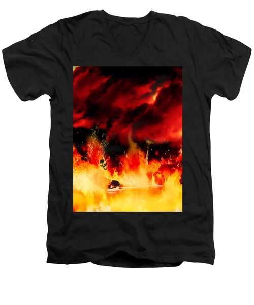 Meanwhile In Tartarus Men's V-Neck T-Shirt