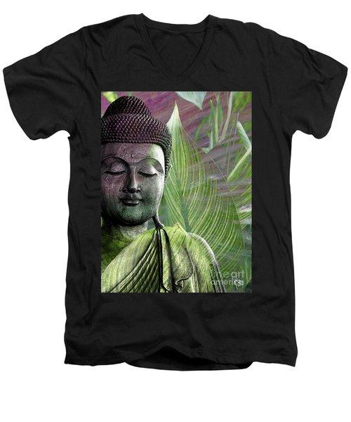 Meditation Vegetation Men's V-Neck T-Shirt by Christopher Beikmann